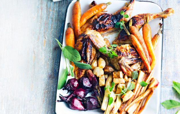 Kananpoikaa juureksien kera / Chicken and root vegetables / Kotiliesi.fi / Kuva/Photo: Sampo Korhonen/Otavamedia