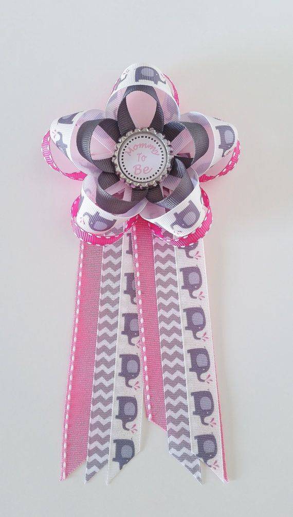 Elephant Baby Shower Pin, Pink Elephant Mommy to Be ...