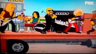capítulo de los simpson en el salen judas priest - YouTube