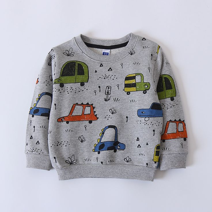 Fashion All-print Cartoon Cars Cotton O-neck Baby Boys Hoodies 2018 Spring New Children Clothes Kids Pullover Cute T shirts Tops //Price: $24.04 //     #baby