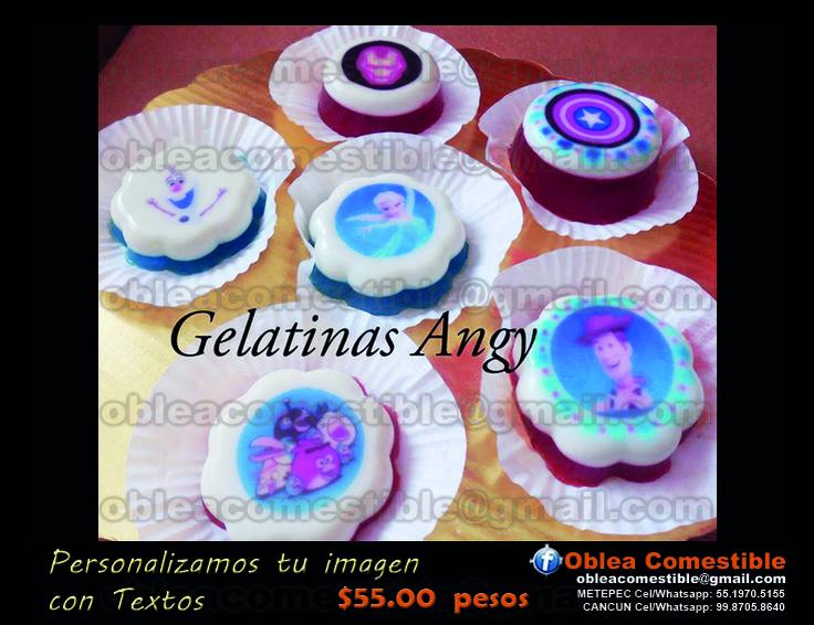 Decora tus gelatinas con Oblea Comestible...www.obleacomestible.net Whatsapp: 5519705155 obleacomestible@gmail.com
