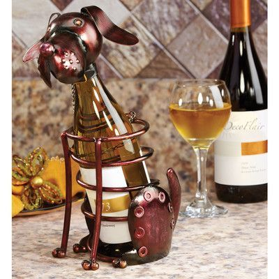 Deco Breeze Figurine 1 Bottle Tabletop Wine Rack