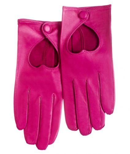 Heart Driving Glove fuchsia | Shoe Designer Minna Parikka - Official Online Boutique I WAAAAANNNNT IT