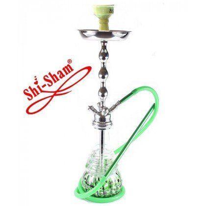 ShiSham NG Reloaded Silver-Shaft Green unter http://www.relaxshop-kk.de/shishas-orientalische-wasserpfeifen/shishas-mit-klickverschluss.html kaufen.
