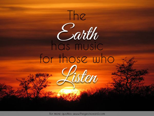 The earth has music for those who listen. Photo: © Inge Mulder  #earth #listen #music #nature #quotes #those