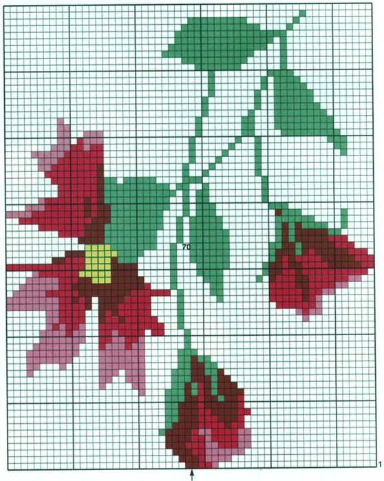 Knitting Charts Flowers : Best images about flower charts on pinterest fair