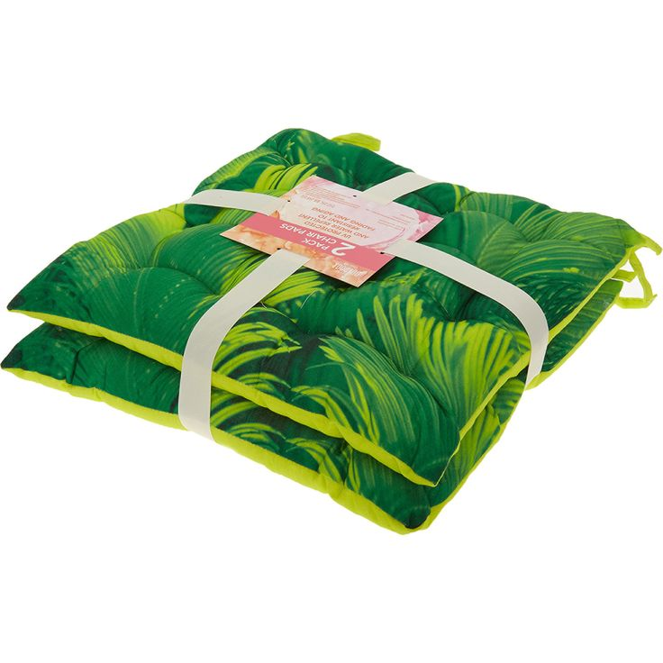 Set Of Two Green Seat Pads 40x40cm - TK Maxx