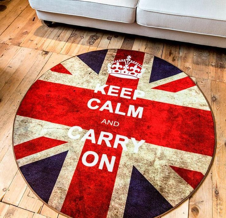Retro Round Carpet British Flag 3 sizes Available