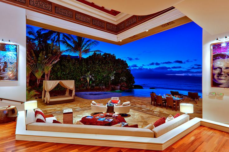 Jewel of MauiDreams Home, Beach House, Luxury Villas, The View, Living Room, Travel Tips, Places, Hawaiian Islands, Ocean View