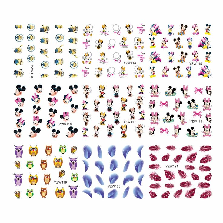 FWC Hot Designs Water Decals Mixed Flower Nail Stickers French Tips Nail Art Decorations For Nails Tools