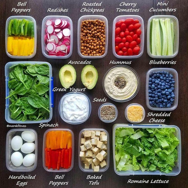 Vegetarian  and low carb meal prep