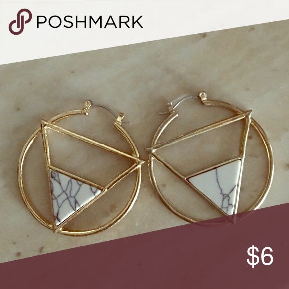 Marble Aztec Earrings Hoops Jewelry Earrings
