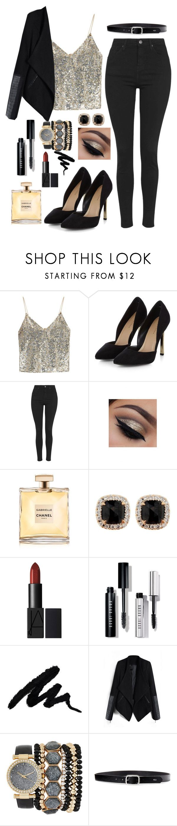 """""""Newyear's eva's outfit"""" by blnkb ❤ liked on Polyvore featuring Alice + Olivia, Topshop, Jona, Bobbi Brown Cosmetics, Jessica Carlyle and Lauren Ralph Lauren"""