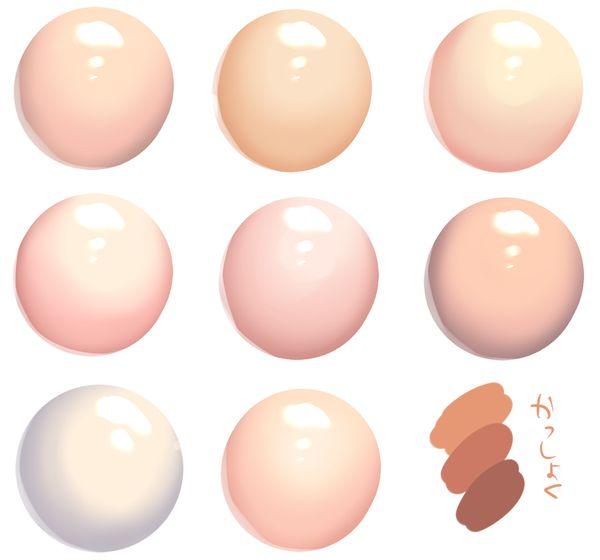 Skin tone palettes