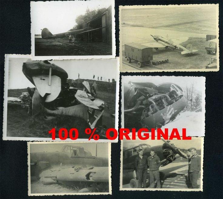 6 x orig. WK2 FOTO LOT - LUFTWAFFE - FLUGZEUGE - PILOTEN - CRASH - ABSTURZ