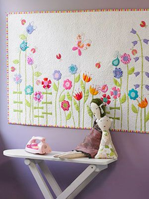 Instructions on how to make this quilt art.