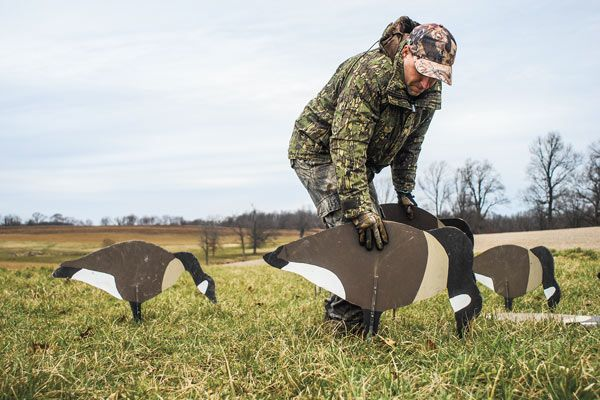 Silhouette Decoy Goose Hunting