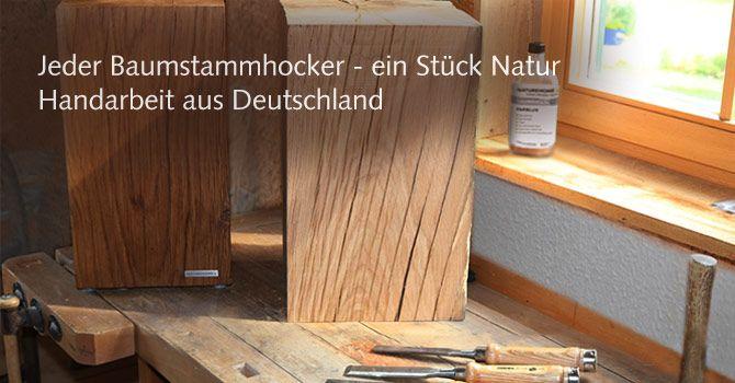 Baumstammhocker