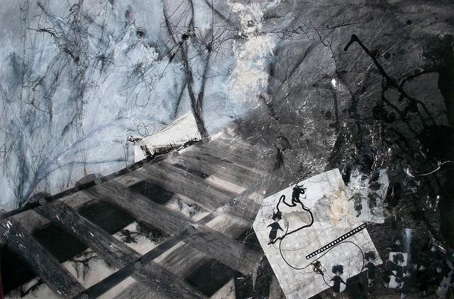 Samy Sffogia, 2014 / Pastel seco, grafite, colagem e costura sobre papel canson / 93x63cm / 6x R$183