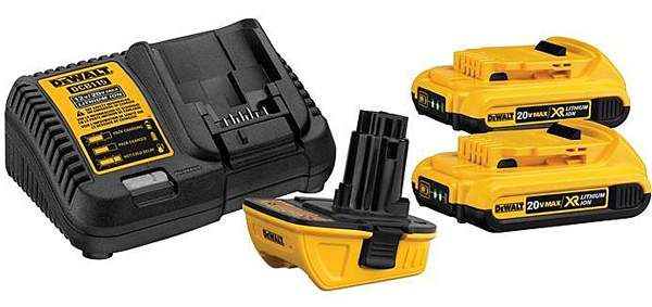 Retrofit the latest batteries to your older DeWALT cordless tools with this new clip-on accessory.