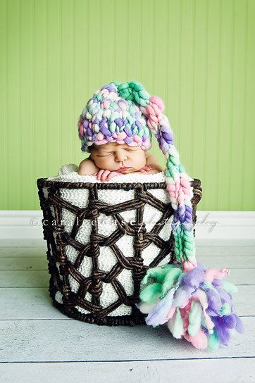 Knitting Photography Props : Knitting pattern newborn tall tales baby hat pdf for