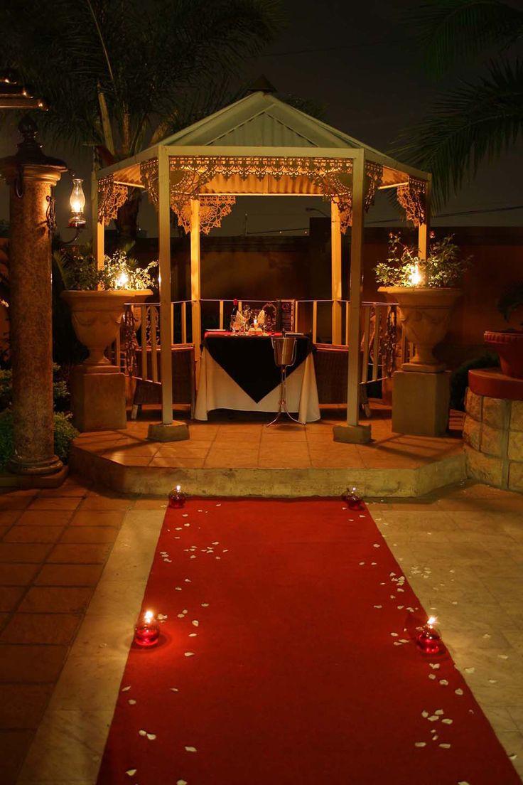 Romantic private gazebo dining at le si signature restaurant at casa toscana lodge