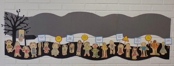 Anna idean kiertää!: Meidän luokan -seinään lisättiin luokan säännöt