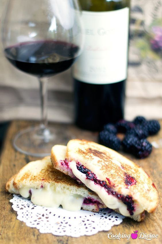 Blackberry & Brie Grilled Cheese Sandwich Recipe - Upscale grilled cheese that goes great with your favorite red wine.