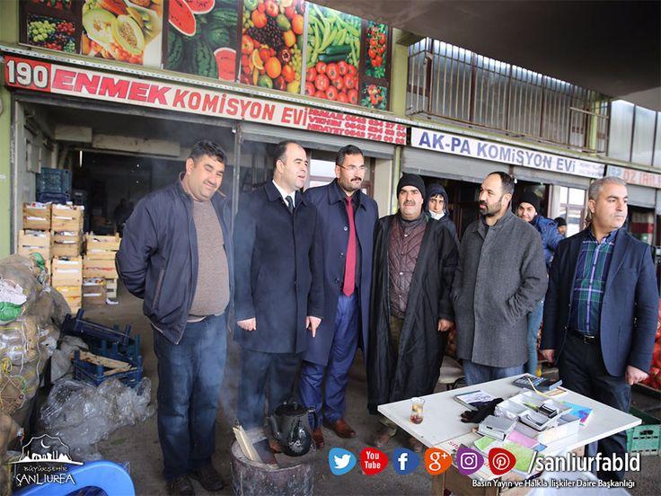 Başkan Nihat Çiftçi, Hal Pazarı esnafını ziyaret ederek hayırlı işler temennisinde bulundu.