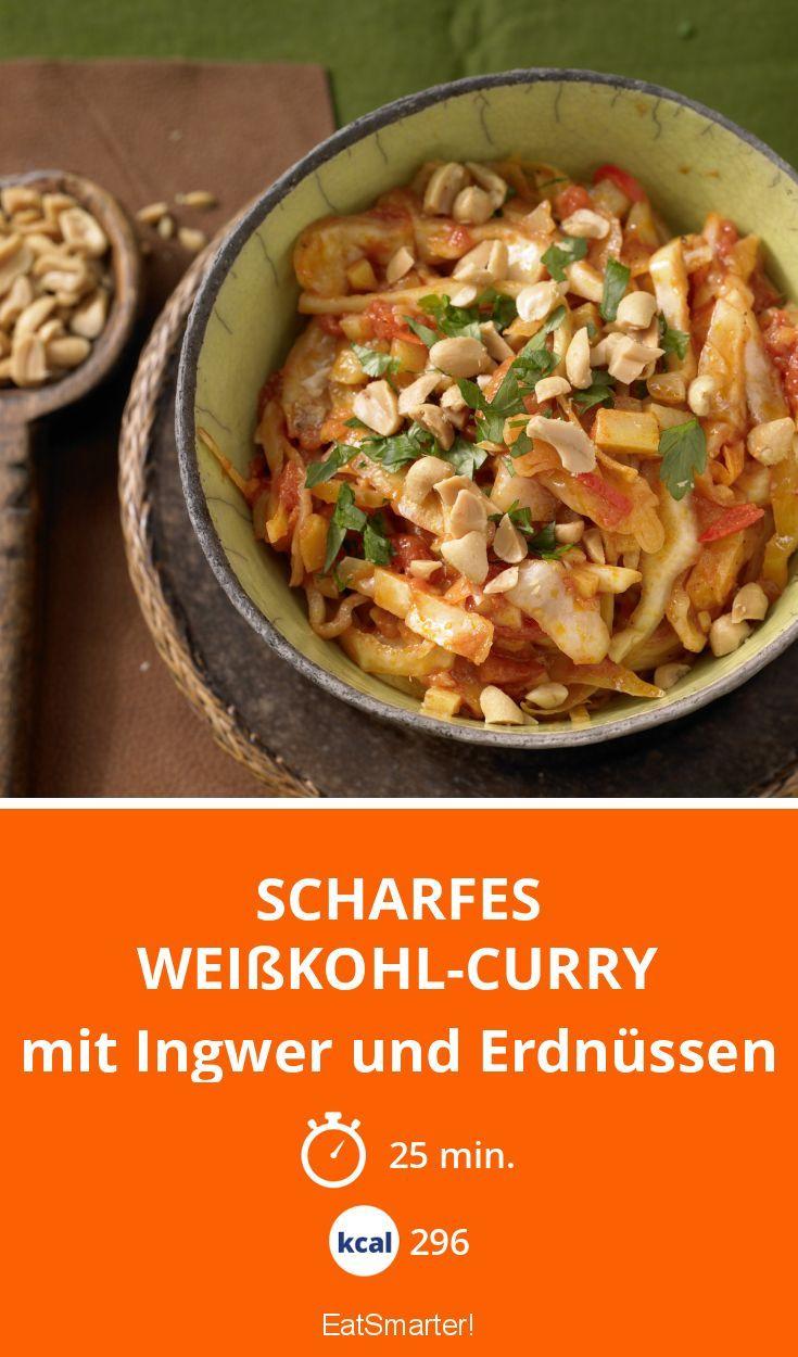 Scharfes Weißkohl-Curry | Feurig und nussig. Heizt dem Stoffwechsel so richtig ein! Nur 296 Kalorien!