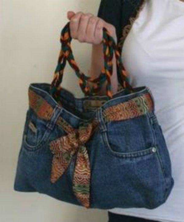 This DIY project is perfect for upcycling old jeans.