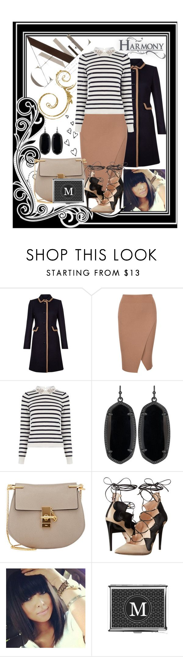 """Camel"" by summer-marin ❤ liked on Polyvore featuring Hobbs, Oasis, Kendra Scott, Chloé and Ruthie Davis"
