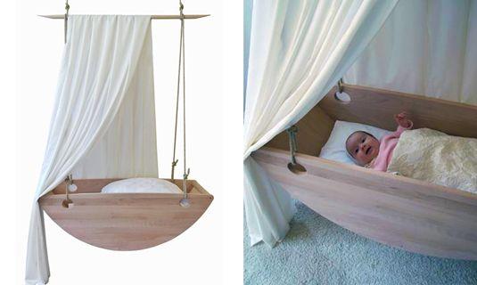 Design houten wieg van Wollnitz!