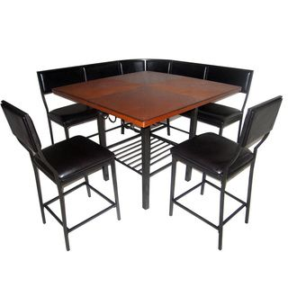 6-piece Carson Corner Nook Dining Set | Overstock.com Shopping - Big Discounts on Dining Sets