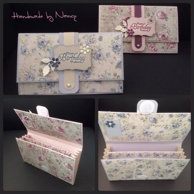 Een leuke howto met snijbestand voor het maken van een leuke cadeau portemonnee, Free how to gift wallet