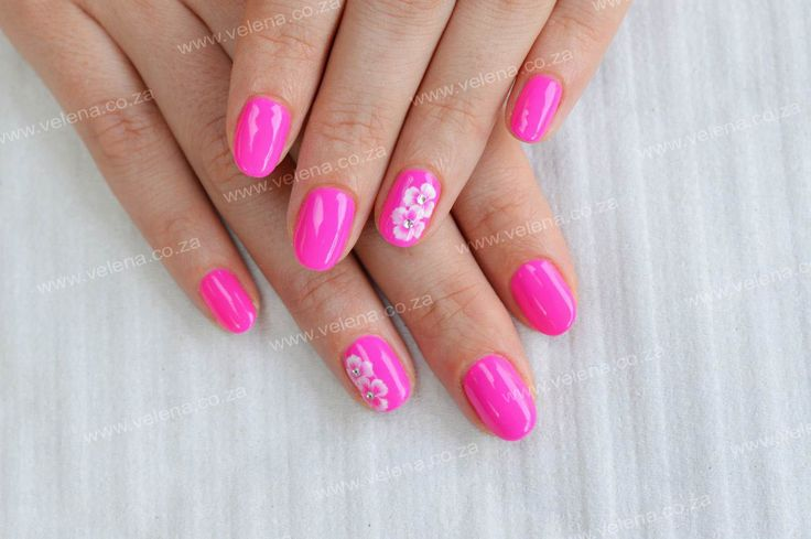 Bright Gel Polish #4 of our GELLIANT AROMA Collection with a simple design. www.velena.co.za