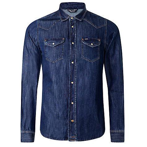 Buy Diesel Sonora Denim Shirt, Denim Blue Online at johnlewis.com