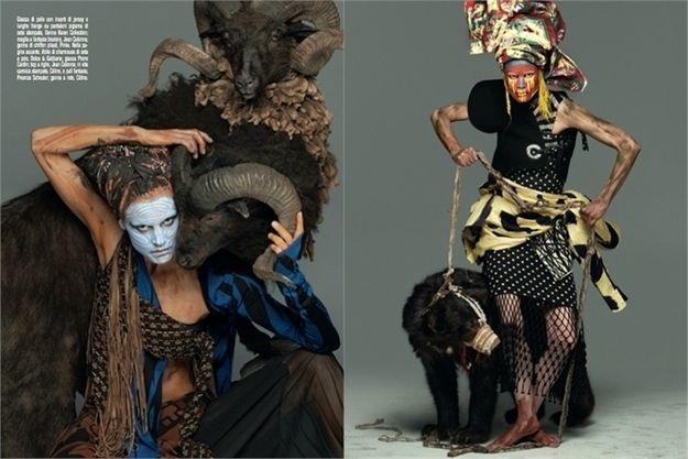 """Kopertinat e revistës  me kulturën """"Afrikane"""" të përdorura si koncepti i vetëm i saj, shfaqur si primitive, agresive dhe ekzotike janë zhgënjyese."""