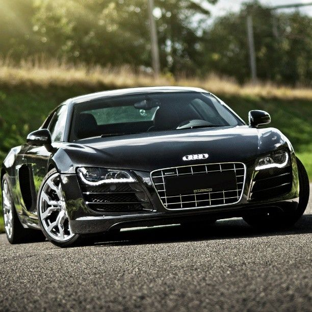 'Black Beauty' Gorgeous Audi R8  #RePin by AT Social Media Marketing - Pinterest…