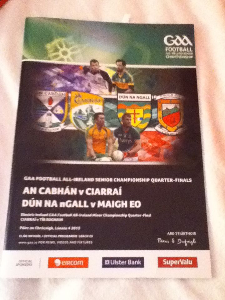 Match programme from Donegal vs. mayo game!