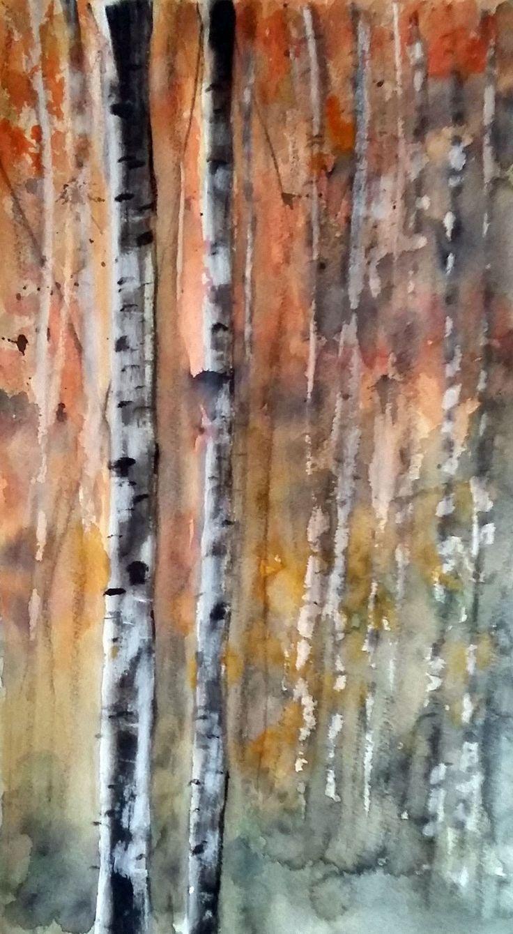 Betulle   -   acquerello 23x40cm   -   SOLD