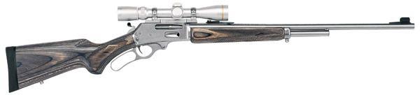 "Marlin Model 308MXLR Lever Action Rifle , 308 Marlin Express, 24"", Black /Gray Laminate W/Pistol Gri - Able Ammo"