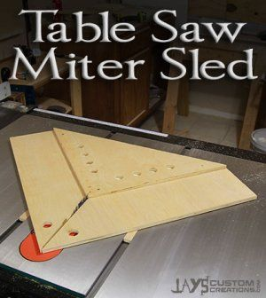 A simple table saw sled to help make perfect mitres.