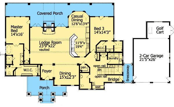 plan 15792ge cozy cottage with dual master suite house 11485 | 5045a8bb5749f73a0dfde3efa358aa8f