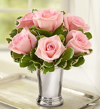 Julep Cup Rose Arrangement - Pink from 1800flowers.com!
