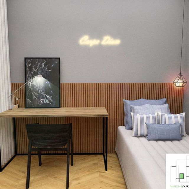 #quarto de #solteiro  #wen #wenarquitetura #interiores #designdeinteriores #arquitetura #projeto #reforma #construcao #love #interiordesign #architecture #design #masculino #quarto #dormitorio #neon