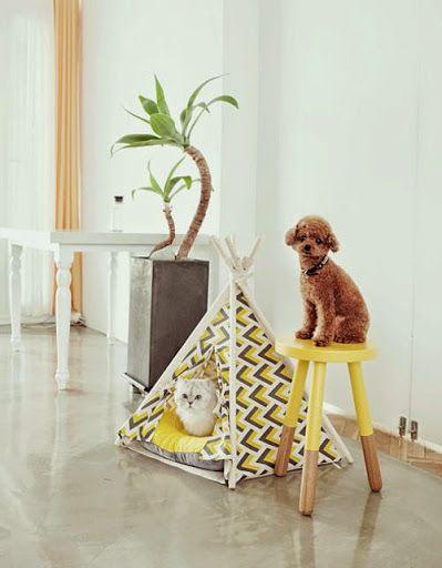 DIY - Tenda de índio para gatos (Teepee)