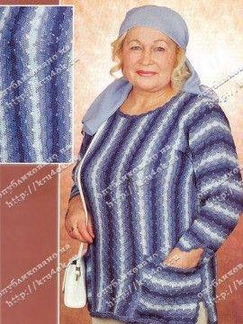 Женский джемпер в джинсовой гамме