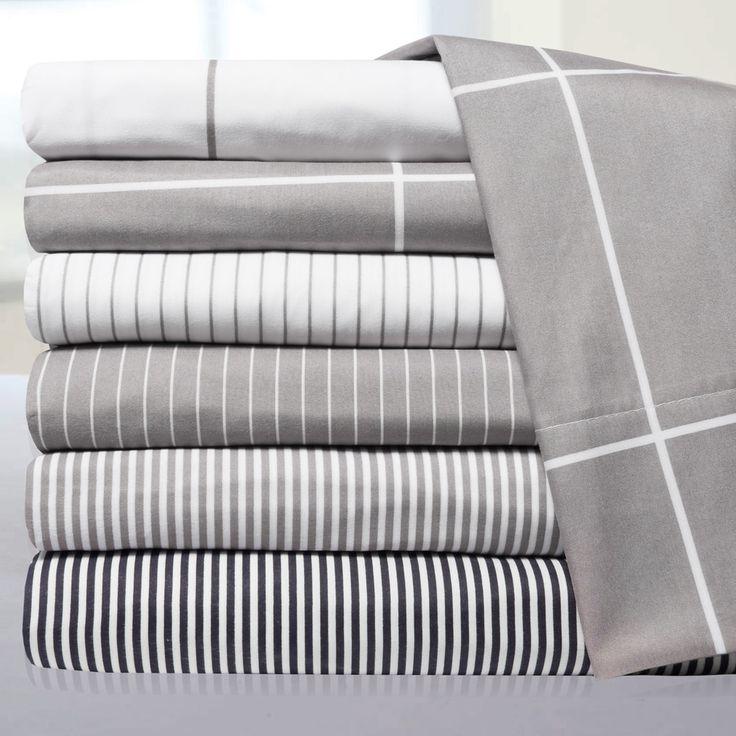 Loft Collection Pinstripe, Classic Stripe and Windowpane Modern Sheet Sets