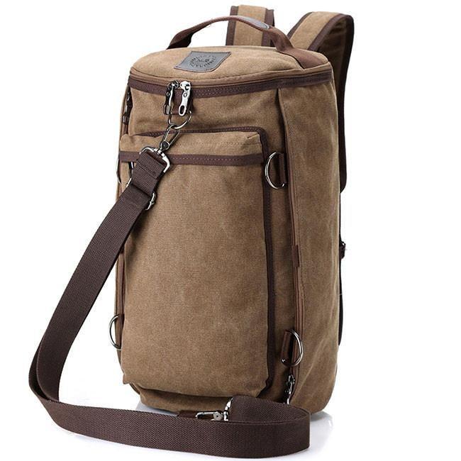 Retro Camping Backpack Large Bucket Travel Outdoor Rucksack Multifunction Gym Shoulder Bag Canvas backpack